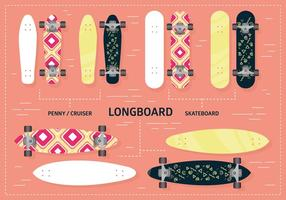 Free Longboard Vector Background