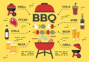 Priorità bassa di vettore degli elementi del barbecue