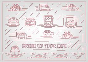Gratis Abstract Vehicle Vector Ikoner