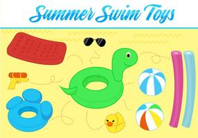 Free Summer Toys Vector Background