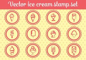 Free Ice Cream Stamp Vectors