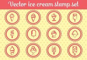 Vecteurs de timbres de crème glacée gratuits