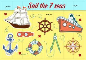 Kostenlose Segelboote Vektor Hintergrund