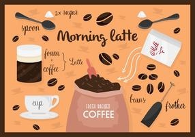 Gratis Vintage Koffie Vector Achtergrond