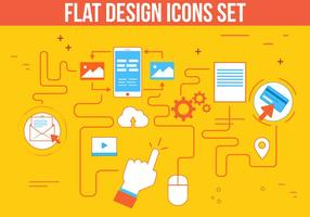 Gratis Flat Design Vector Icon Set
