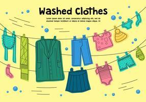 Freie gewaschene Kleidung Vektor