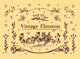 Free Vintage Elements Vector Background
