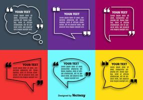 Vector Quote Speech Bubble Set