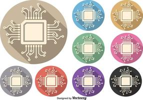 Microchip vector symbool set