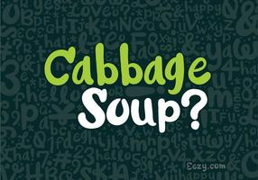 Cabbage Soup Vector Font