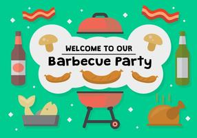 Gratis Grillfest Party Vector
