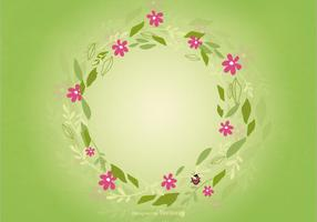 Fondo floral de la guirnalda