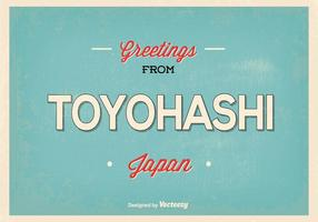 Retro Toyohashi Japan Greeting Illustration