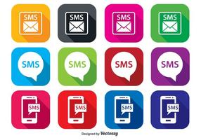 Ensemble d'icônes SMS