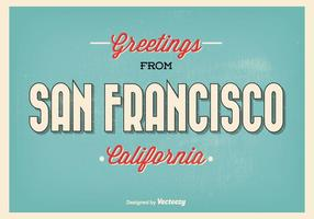 San francisco retro hälsning illustration