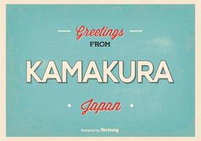 Kamakura Japan Greeting Illustration