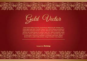 Gold and Red Elegant Background Illustration vector