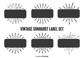 Vintage zonnebrand label set