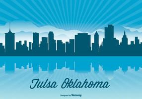 Tulsa Oklahoma Skyline Illustration