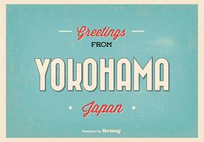 Illustration de salutation de yokohama japan