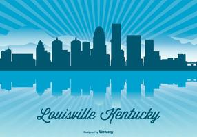 Illustration de l'horizon de louisville kentucky