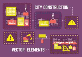 Gratis City Construction Vector Achtergrond