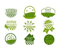 Einfache Agro Symbol Logo Design Vektoren