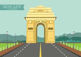 India Gate on Flat Design vector