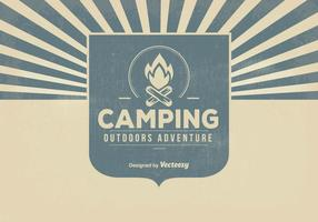 Retro Camping Hintergrund Illustration
