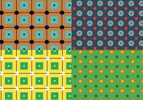 Patrón de círculos cuadrados