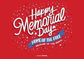 Hand getekende Memorial Day Vector