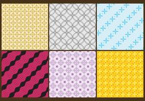 Batik Patterns Color vector