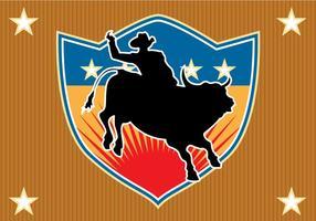 Free Bull Rider Vektor