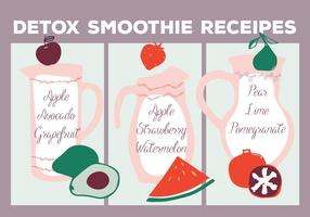 Free Smoothie Receipes Vector Background