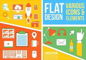 Free Mixed Flat Vector Icons