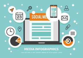 Gratis Media Infographics Vector