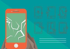 Free Cracked Phone Screen Vector