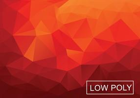 Warm Red Polygonal Background Vector