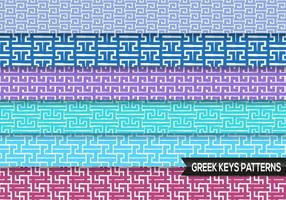 Grec Keys Patterns Vector