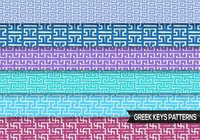 Griekse Sleutels Patronen Vector