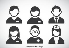 Ziekenhuis Mensen Pictogrammen Vector