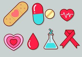 Cute Medical Icon Set 1 vector
