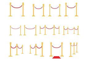 Vecteur de cordes de velours gratuit
