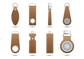 Leather Zipper Pull vector