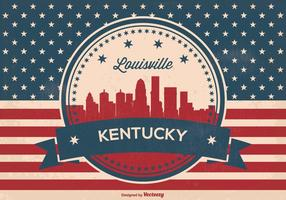 Retro Luisviile Kentucky Horizon Illustratie