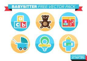Pack de vecteur libre de baby-sitter