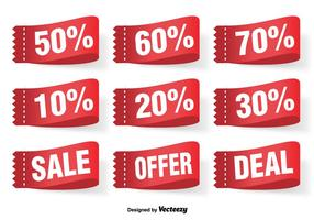 Discount Vector Labels Set