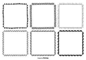 Cute Hand Drawn Style Frame Set vector