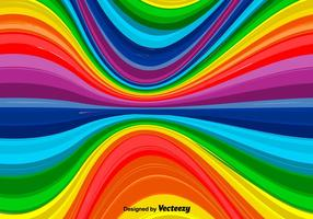 Vector Wavy Rainbow Background