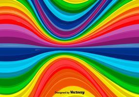 Fundo ondulado do arco-íris do vetor